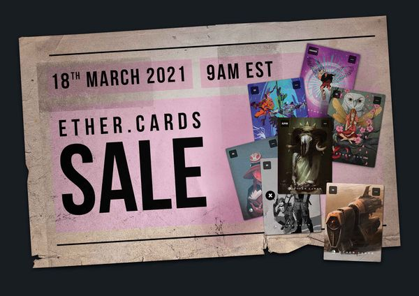 The Ether Cards Launch Sale is here